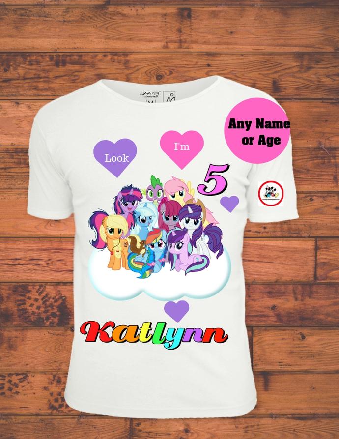 My Little Pony Look I'm Birthday Girl Printable Iron On Transfer