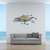 "Blue Crab 5 - Wall Decal - 7.75"" tall x 17.75"" wide"