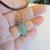Apple Aura Quartz Crystal Point Pendant, Raw Crystal, Copper Wire Wrap