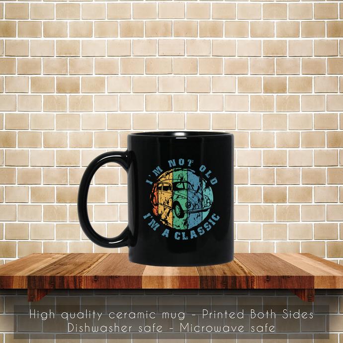 Retro Car Classic Coffee Mug, Tea Mug, Car Classic Mug, Coffee Mug, Car Classic