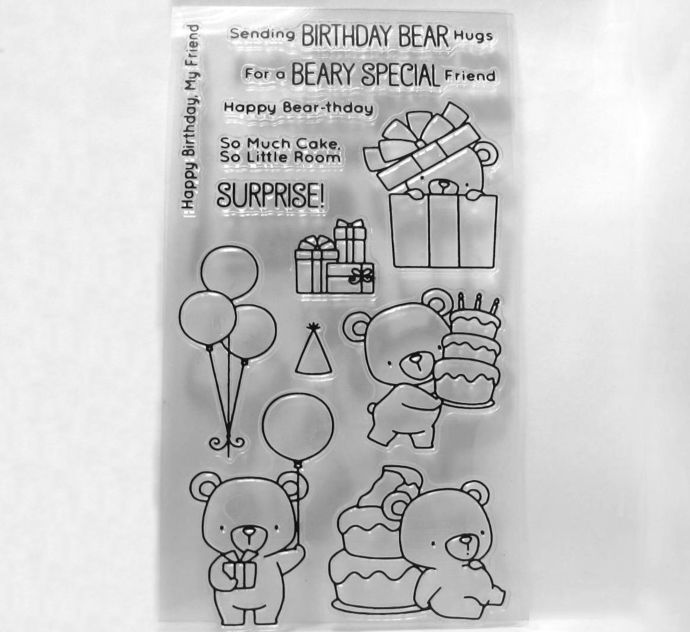 Little Bear Party Clear Stamps