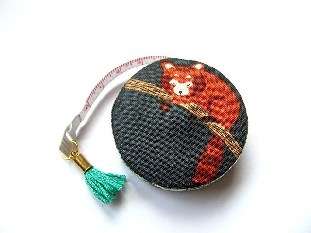 Measuring Tape Red  Pandas  Retractable Tape Measure