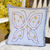 Blue Butterfly Hypo Allergenic Throw Pillow for Porch