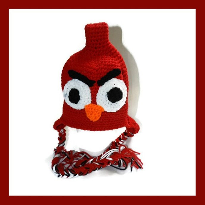 Inspired by Red Angry Bird, Bird Hat, Toddler, Child, Teen, Adult Made to Order