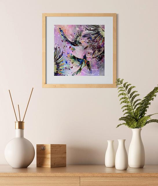 Hummingbirds Wall Art Print