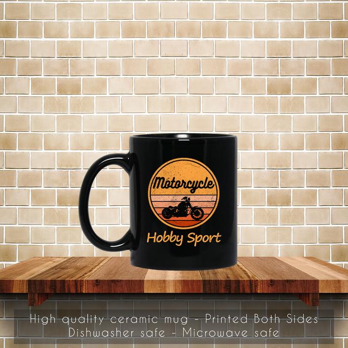 Motorcycle Hobby Sport Retro Coffee Mug, Vintage Motorcycle Mug, Retro Sport,