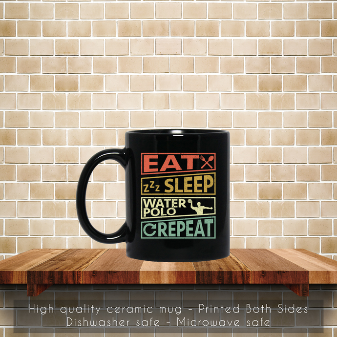 Water Polo Player Sports Retro Style Vintage Coffee Mug, Tea Mug, Coffee Mug,