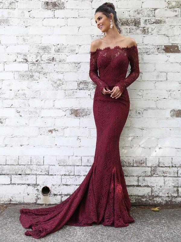 Elegant Off The Shoulder Prom Dresses,Long Prom Dresses,Cheap Prom Dresses,