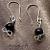 Dyed Tiger Eye Loop Earrings