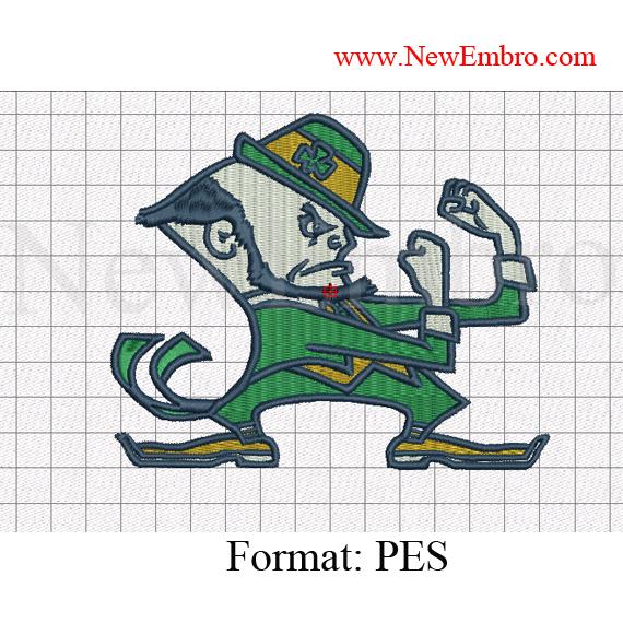 Custom embroidery notre dame fighting irish logo embroidery logo embroidery