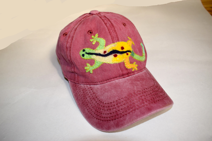 hand embroidered hat baseball cap embroidery Bordeaux baseball cap Embroidered