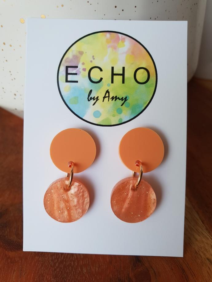 Small Acrylic Dangles - peach