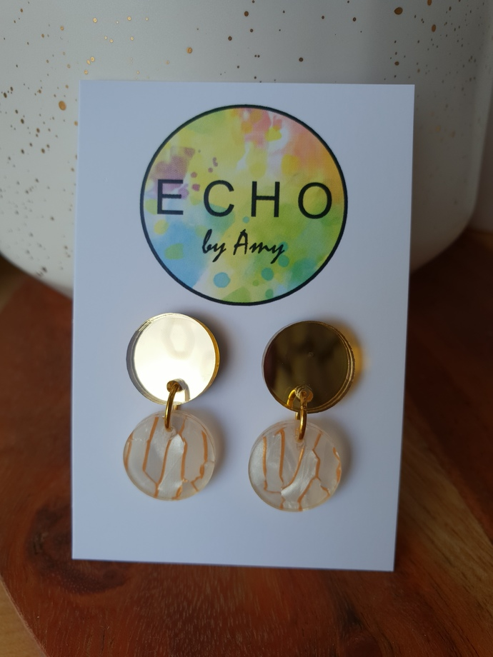 Small Acrylic Dangles - gold