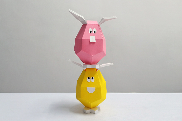 DIY Papercrafts,Easter eggs,Easter bunny,Easter rabbit,Egg art,Printables,happy