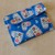 fabric coin purse, purse accessory, blue hearts fabric coin purse, gift for