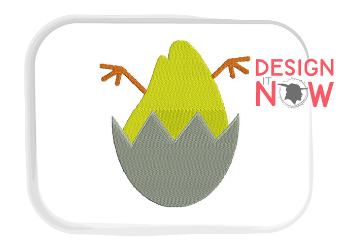 Easter Egg Chicken Chick Embroidery Design 6 Sizes