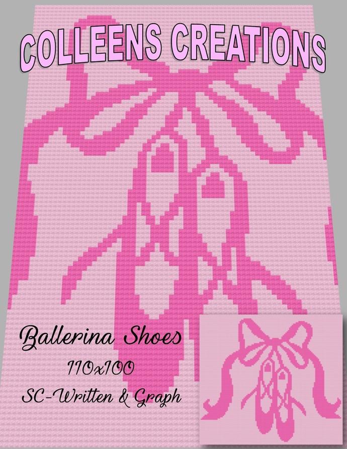 Ballerina Shoes Crochet Written & Graph Design