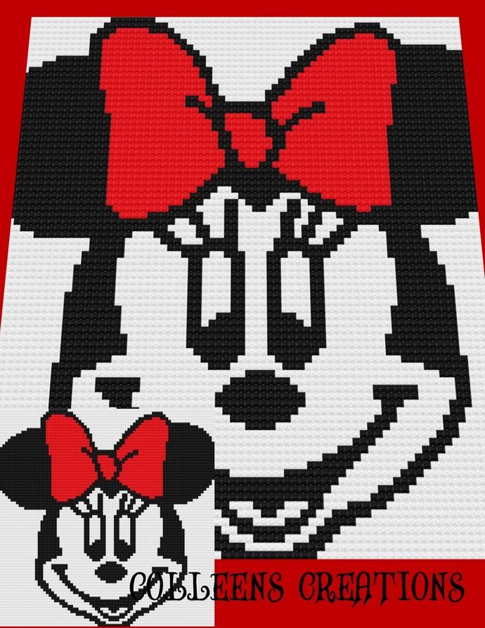 Minnie Crochet Written and Graph Design