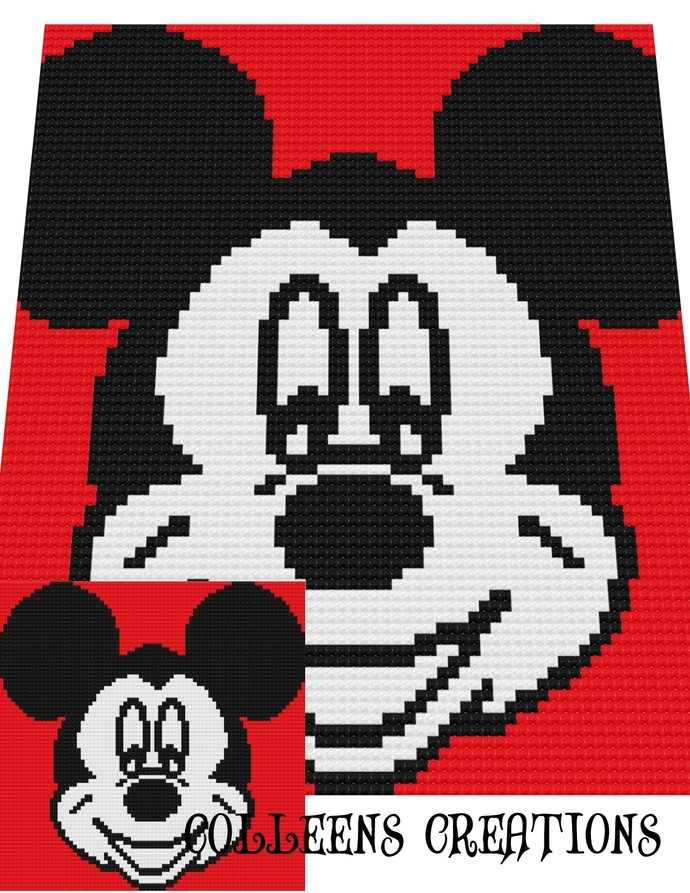 Mickey Crochet Written and Graph Design