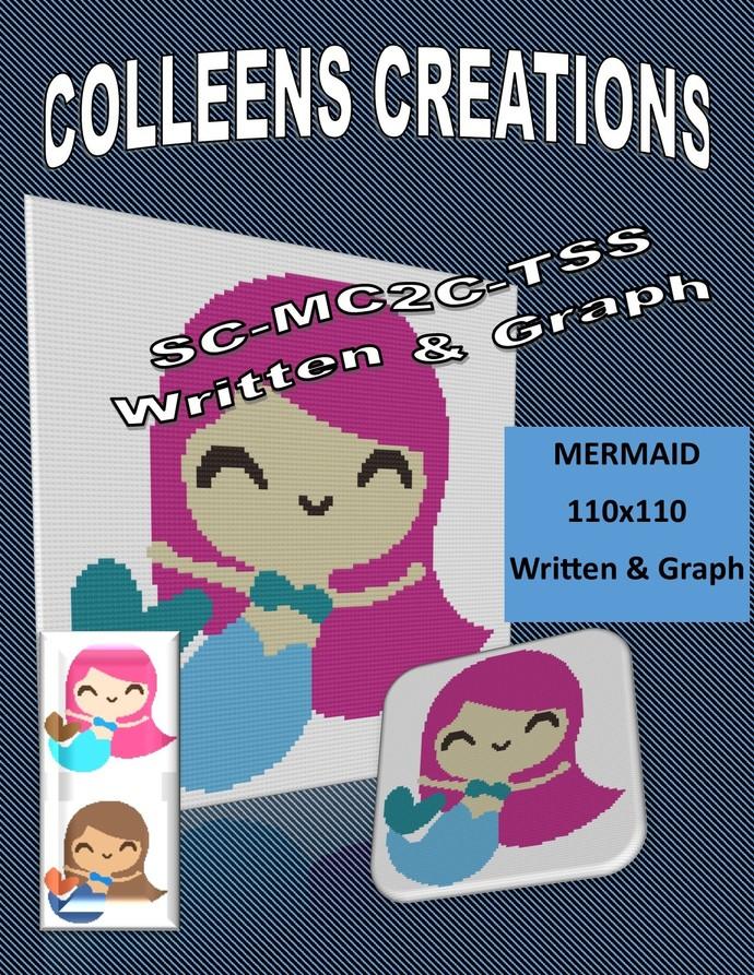 Mermaid Crochet Written and Graph Design