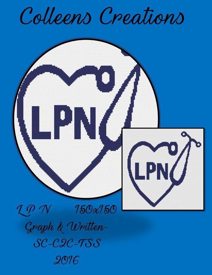 LPN Crochet Written and Graph Design