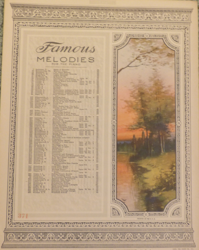 Famous Melodies, Heavenward, Vintage sheet music, Collectible music, Antique