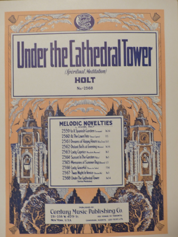 Under the Cathedral Tower, Vintage sheet music, Collectible music, Antique sheet