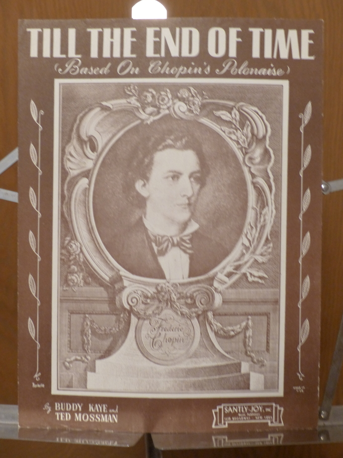 Till the End of Time, Vintage sheet music, Chopin music, Collectible music,