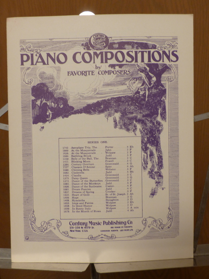 Century Overture, Piano compositions, Vintage sheet music, Collectible music,