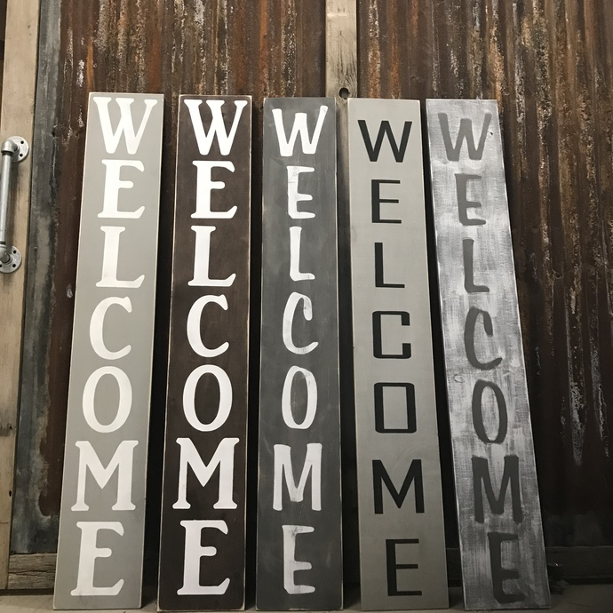 DIY- Porch WELCOME Sign