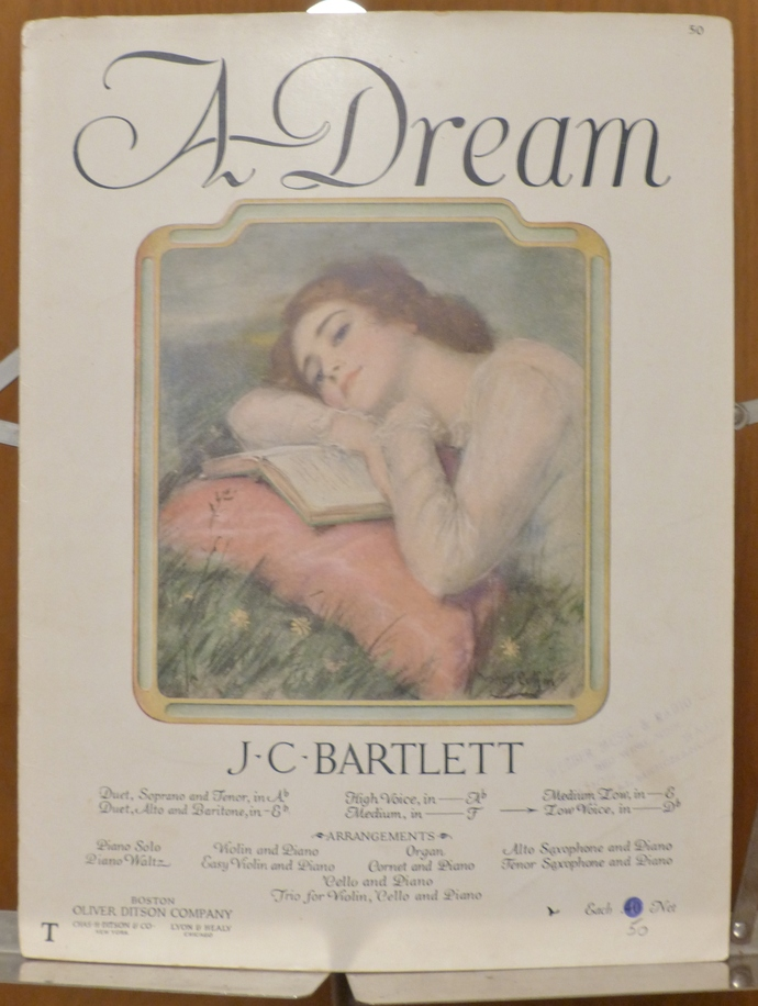 A Dream, Vintage sheet music, Collectible music, Antique sheet music, 1923 sheet