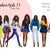 Watercolor fashion illustration clipart - Fashion Girls 23 - Dark Skin