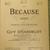 Because, Vintage sheet music, Collectible music, Antique sheet music, 1902 sheet