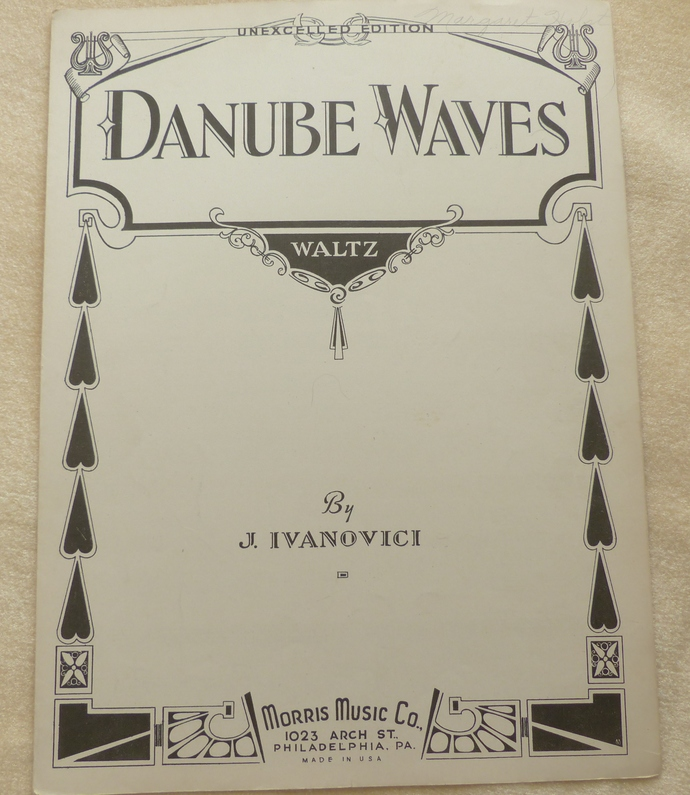 Danube Waves Waltz, Vintage sheet music, Collectible music, Antique sheet music,