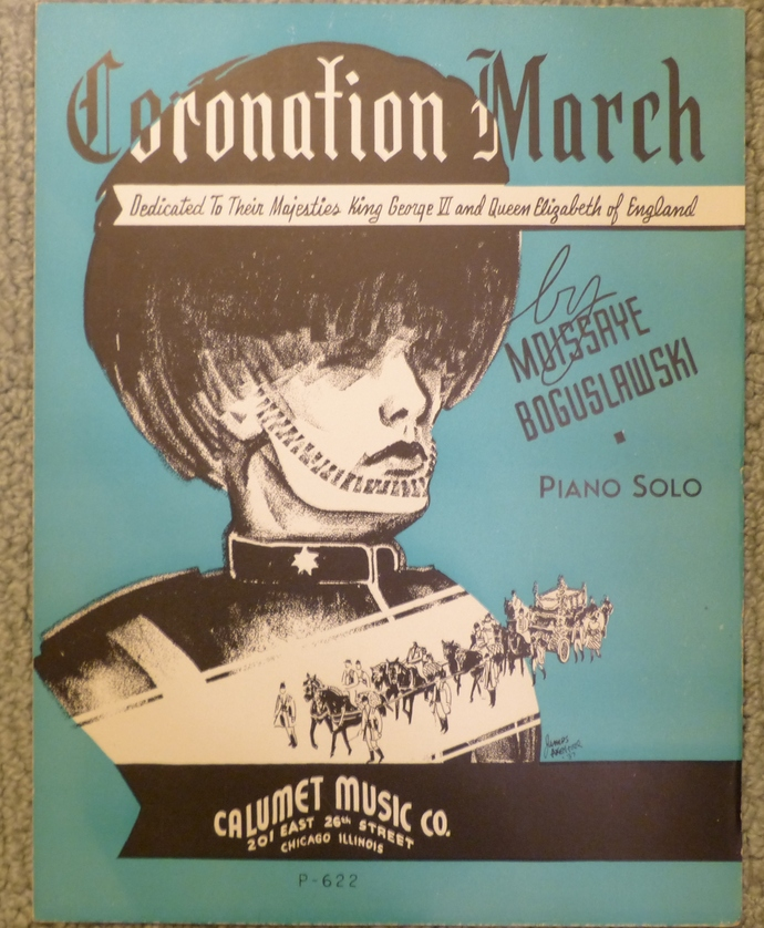 Coronation March, Vintage sheet music, Collectible music, Antique sheet music,