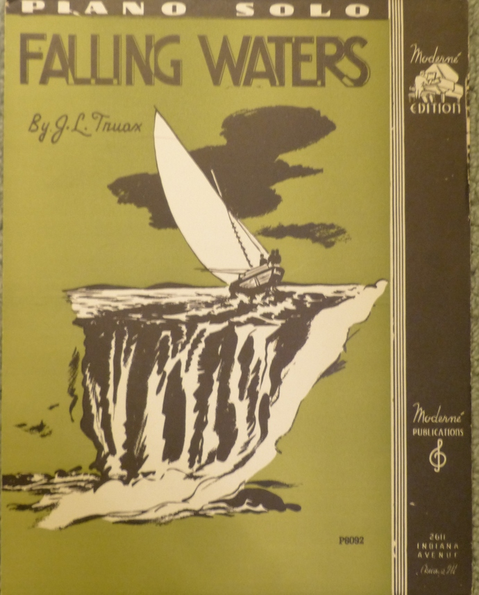 Falling Waters, Vintage sheet music, Collectible music, Antique sheet music,