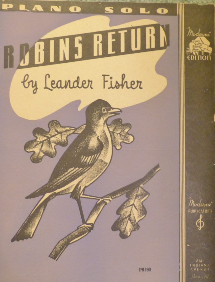 Robins Return, Vintage sheet music, Collectible music, Antique sheet music, 1936