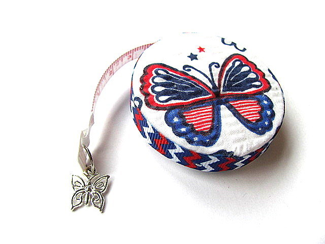 Measuring Tape Stars and Stripes Butterflies Retractable Pocket Tape Measure