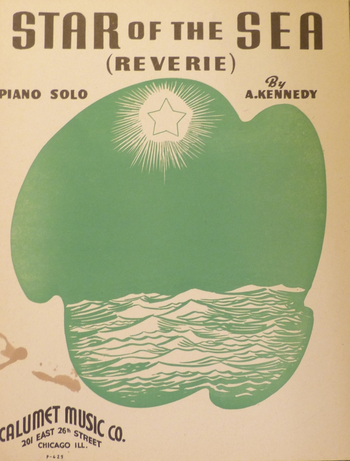 Star of the Sea, Vintage sheet music, Collectible music, Antique sheet music,