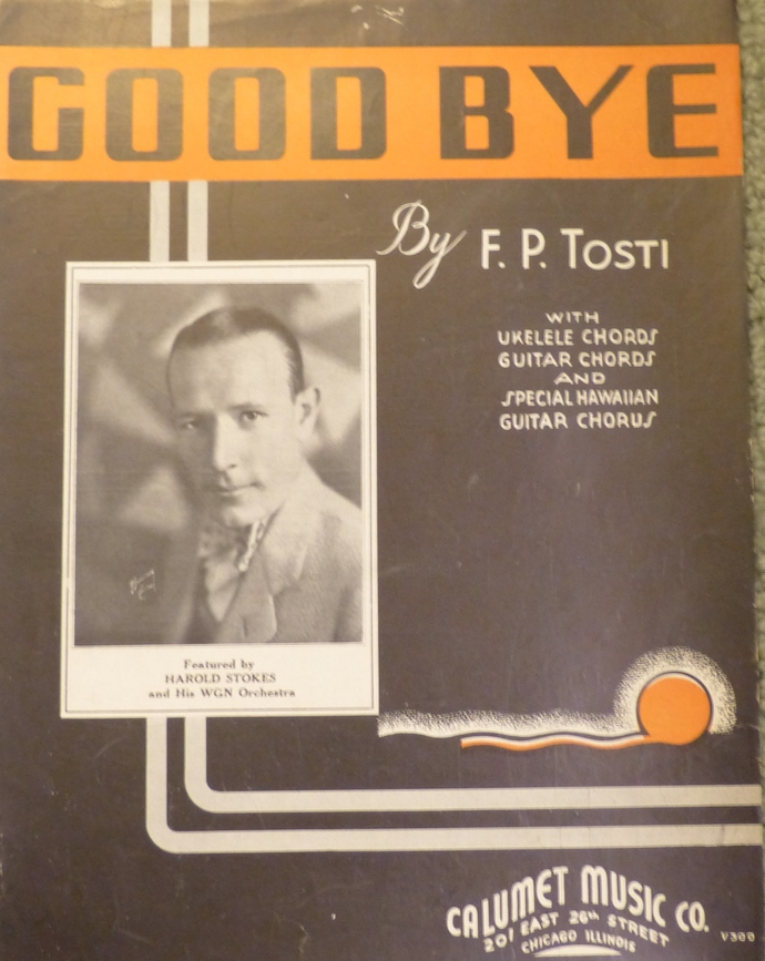 Good Bye, Vintage sheet music, Collectible music, Antique sheet music, 1935