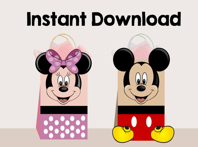 Copy of Mickey Mouse favor bags, Minnie Mouse favor bags,Mickey AND Minnie gift