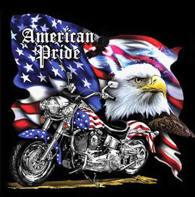 American Pride MotorCycle Cross Stitch Pattern***LOOK***X***INSTANT DOWNLOAD***