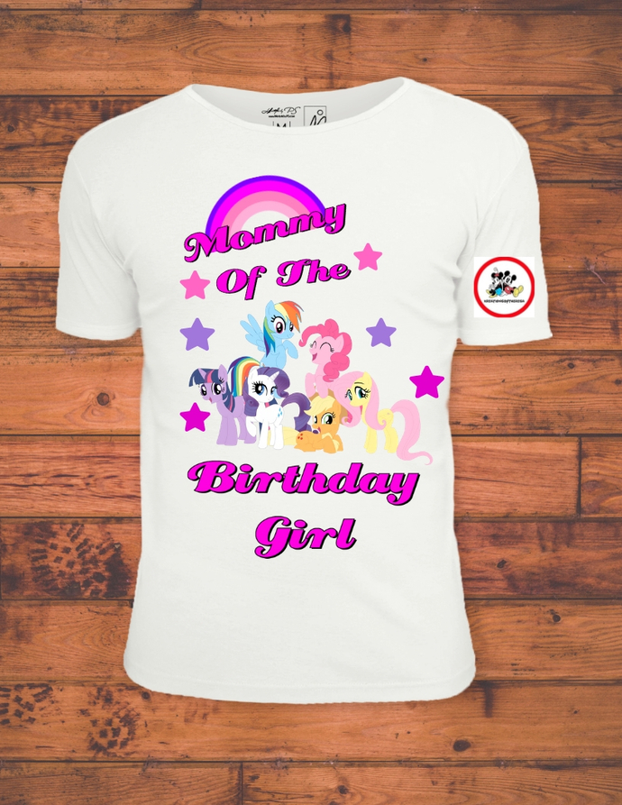 My Little Pony Mommy Of The Birthday Girl Printable Iron On Transfer