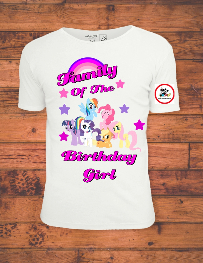 My Little Pony Family Of The Birthday Girl Printable Iron On Transfer