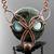 Demon wolf - Wire woven pendant with Kambaba jasper