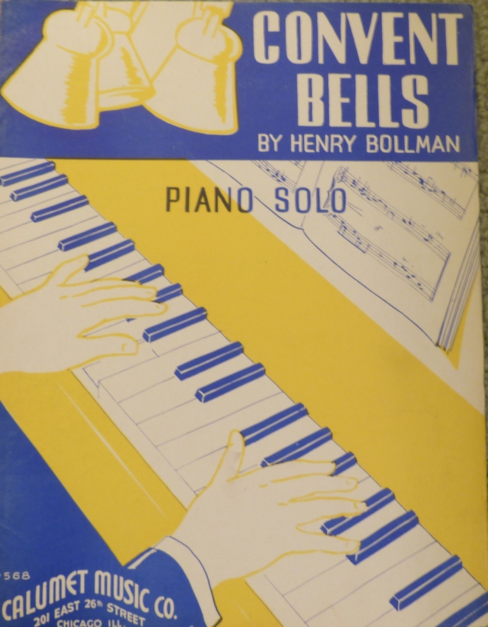 Convent Bells, Vintage sheet music, Collectible music, Antique sheet music, 1935