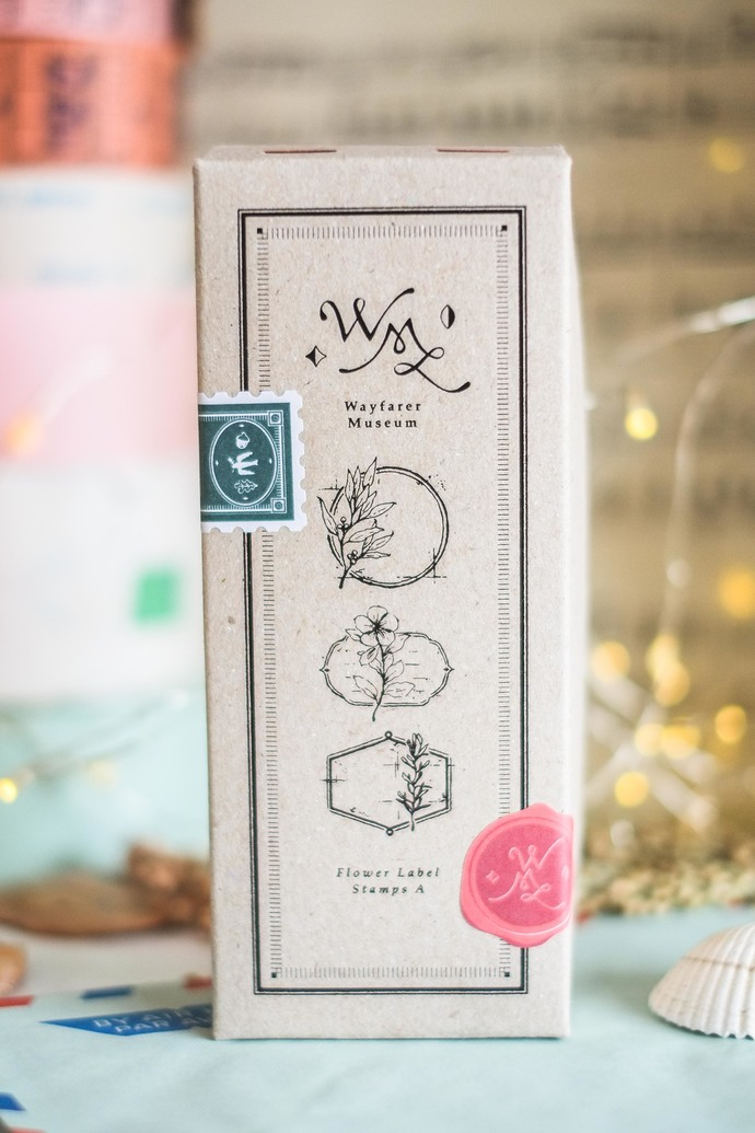 OURS Flower Label A DIY Rubber Stamp Set - perfect for journaling & happy mail