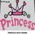 Pink Princess Crown Baby Girl crochet graphgan blanket pattern; c2c, cross