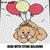 Teddy Bear Flying With Balloons Cartoon Character crochet graphgan blanket