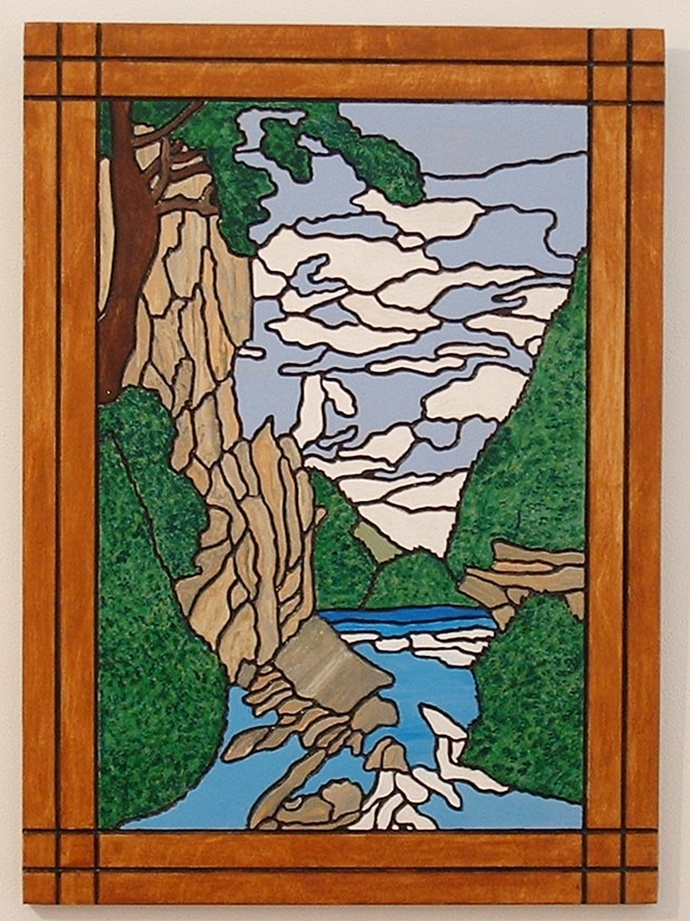 Landscape, Rocky Mountain Canyons, Wood Wall Art, Home Decor